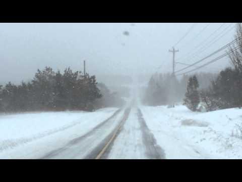 Winter Road Conditions DASHCAM - Jan 19 2016 11am - Meteghan, Nova Scotia