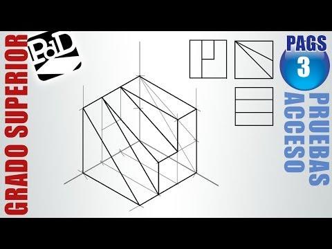 isometricos - SUSCRÍBETE: http://goo.gl/4lWWoY Vamos a realizar un dibujo isométrico de una figura partiendo de sus vistas en planta, alzado y perfil. Es un problema apare...