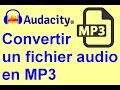 Comment convertir un fichier audio audacity (data) en MP3,WAV...
