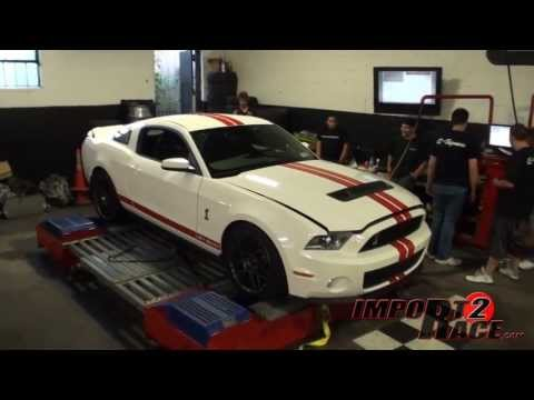 Shelby GT500 on the dyno