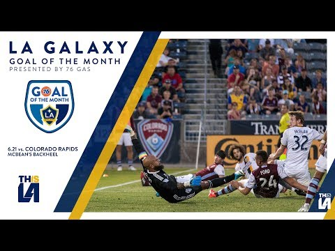 Video: McBean sneaks a back heel past Howard | Goal of the Month - presented by 76 Gas