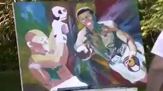Muhammad Ali time lapsed Oil Speed Painting by Dave Santia