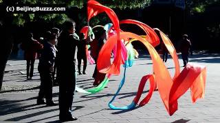 Ribbon dancing in JingShan Park 景山公园, BeiJing