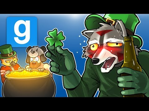 Gmod Ep. 74 Death Run! - St. Patrick's Day House Party! (Garry's Mod Funny Moments) (видео)
