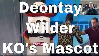 Deontay Wilder Knocks Out Mascot Nacion ESPN