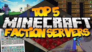 TOP 5 MINECRAFT FACTION SERVERS! (Best Faction Servers)
