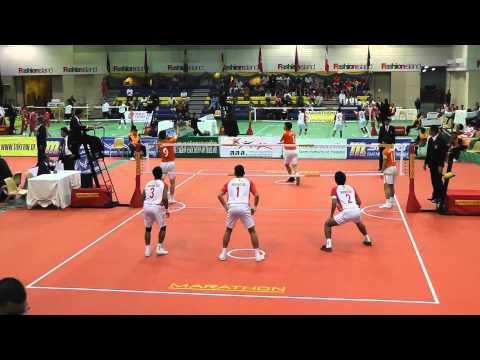 Sepak Takraw King's Cup 2012 - Korea vs. Indonesia - Regu Event