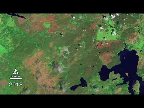 NASA Sees 30 Years of Yellowstone Recovery from 1988 Fires_Űrhajó videók