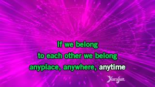 Download MP3: http://www.karaoke-version.de/playbacks/nena/anyplace-anywhere-anytime.html Singen online ...
