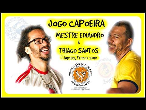 Jogo capoeira - Mestre Ediandro & Thiago Santos (видео)