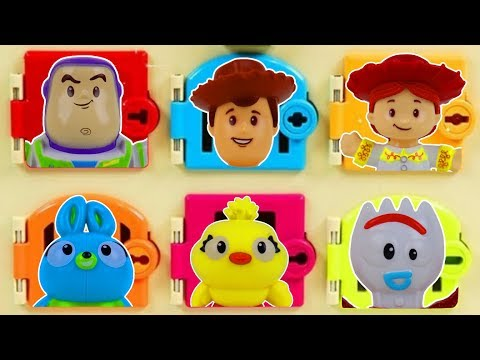 Learn Characters With Toys Story 4 Trapped Door Game With Woody, Buzz Lightyear And Bo Peep