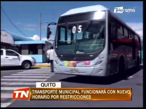 Transporte municipal funcionará con nuevo horario por restricciones