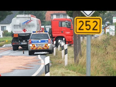 Twistetal: Unfall mit Heizöl-Tankwagen