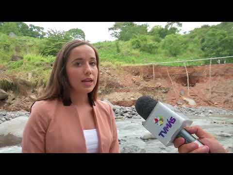 Deslaves y caminos deteriorados en Alto Lucero, remanentes de Franklin