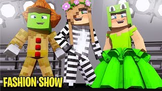 CRAZY little club FASHION SHOW CHALLENGE w/ Little Lizard and Tiny Turtle | Minecraft Little Kelly