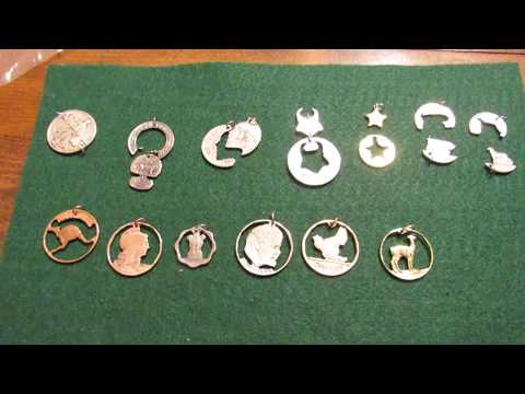 Handmade coin cut pendants. A brief review. Coin Jewelry Company.