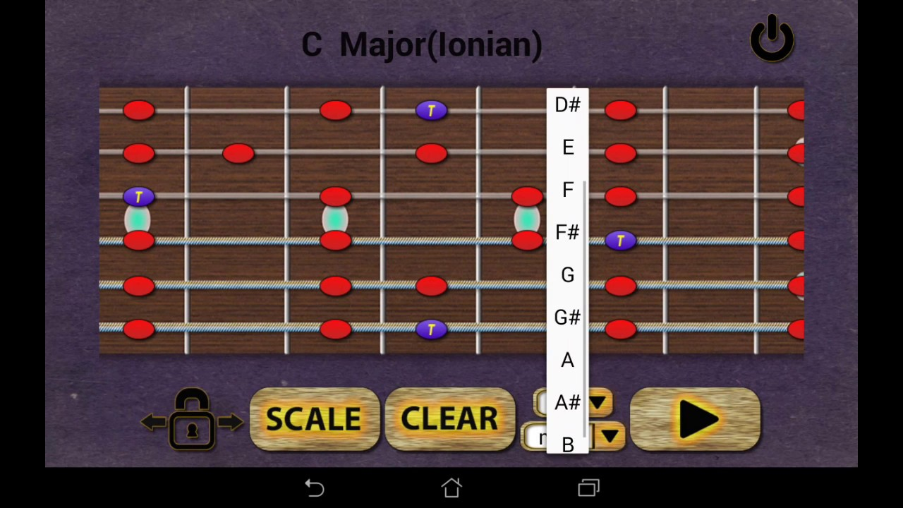 Learn Guitar Scales (Android app)