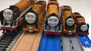 In this video we show you all our versions of Murdoch from Thomas the Tank Engine and Friends. We have Hornby Murdoch, Take N Play (or is it Take Along), Capsule Thomas, Thomas Wooden Railway (we needed the tender), and and Tomy Murdoch. WHich is your favorite?After filming the the collection part of the video I got out the school bus (not really a school bus) and had it chase Murdoch on the HO Scale Track.Kid and family friendly videos about toy trains, real trains, and more!Thomas the Tank Engine, Chuggington, LEGO trains, and more fun!Please SUBSCRIBE for more Train fun: http://bit.ly/1v93HUTMy LEGO Channel: http://www.youtube.com/user/bricktsarMy Toys Channel: http://www.youtube.com/user/jolson37My Son: http://www.youtube.com/user/theymightbebricksMy daughter: http://www.youtube.com/user/sowhosthatgirlMrs. BrickTsar: http://www.youtube.com/user/seagrove697My Website: http://www.traintsarfun.comHelp support our channel by buying on Amazon: http://amzn.to/2aUvc1fLEGO on Amazon: http://amzn.to/2aEgHxVInstagram: http://www.instagram.com/traintsarfunFacebook: http://www.facebook.com/traintsarfunTwitter: http://www.twitter.com/traintsarfunRoyalty Free Music:Bike Rides by The Green OrbsLicensed under Creative Commons: By Attribution 3.0http://creativecommons.org/licenses/by/3.0