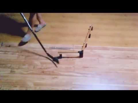Training stickhandling drills off ice
