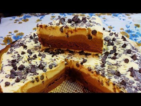 torta gelato con panna, caffè e cioccolato - ricetta