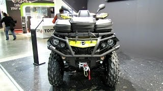 10. 2014 Can-am Outlander 650 Max XT-P ATV Walkaround - 2013 EICMA Milano Motorcycle Exhibition