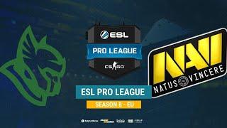 Heroic vs Na`Vi - ESL Pro League S8 EU - bo1 - de_train [Mintgod, Smile]