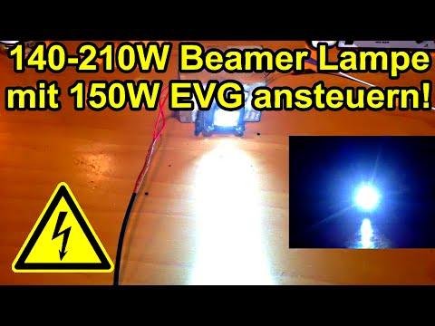 140-210W Beamer Lampe mit 150W EVG ansteuern