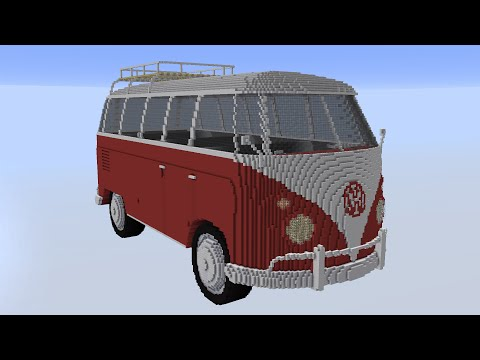 volkswagen t1 bus vw t1 van minecraft project. Black Bedroom Furniture Sets. Home Design Ideas