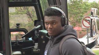 Duke Blue Devils, Zion Williamson arrive in Columbia, SC for NCAA Tournament: raw video