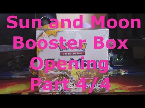 Opening a Pokemon Sun and Moon Booster Box!  Part 4