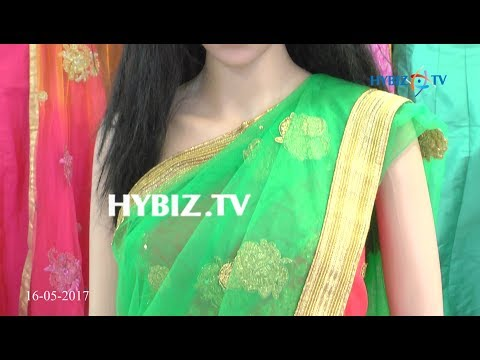 , Green and Pink Half Saree with Gold Embroidery