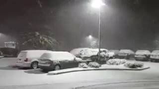 Jamestown (NY) United States  City pictures : Impressive lake effect snow in Jamestown, New York (USA) on November 19