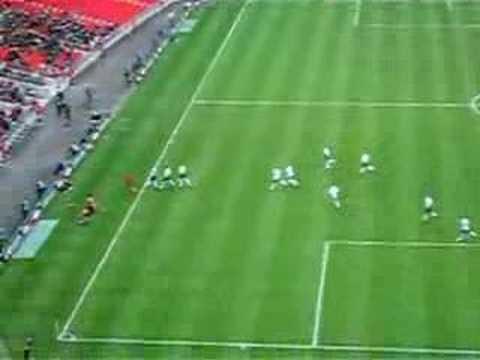 Gol de Bentley con la Selección sub-21 de Inglaterra