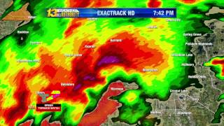 Rochelle/Fairdale tornado coverage – WREX, April 9, 2015
