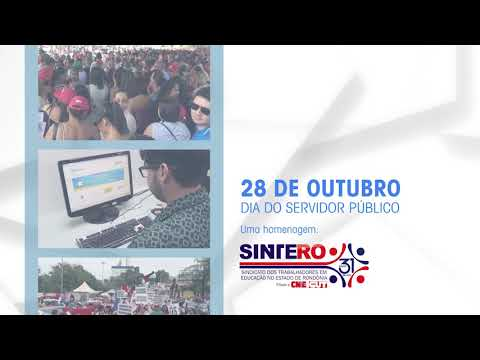 Homenagem do Sintero ao dia do Servidor Público