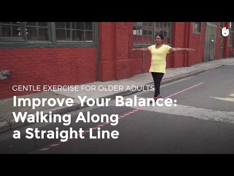 Improve Your Balance: Walking Along a Straight Line | Exercise for Older Adults