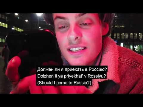 Herman Tommeraas tries to speak Russian...