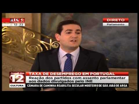 Hugo Soares - Descida da Taxa de Desemprego