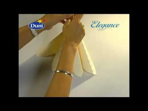 Оригинальный способ складывания бумажных салфеток всего за одну минуту!