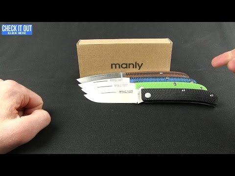 "Manly Comrade Slip Joint Knife Black G-10 (3.5"" Satin) 01ML001"