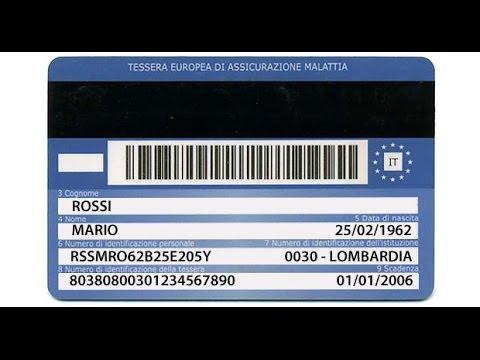 La Tessera Sanitaria Italiana contiene codici militari, commerciali e bancari americani!