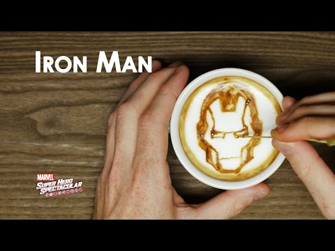 Comic Books and Coffee: Superhero Latte Art with Marvel -