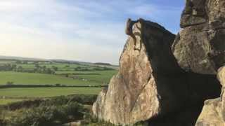 Bouldering at Almscliffe by Louis Parkinson