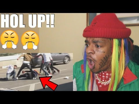 6IX9INE REACTS TO HIS AIRPORT FIGHT AT LAX !!! (видео)
