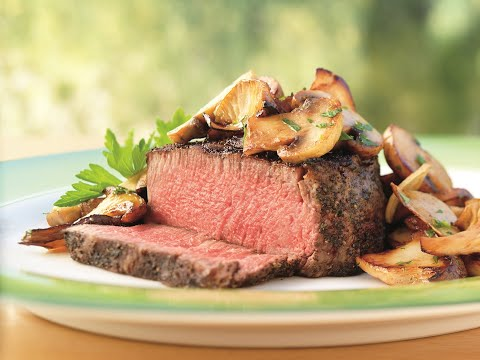 Weber's Recipe of the Week—Tea-Rubbed Filet Mignon Steaks with Buttery Mushrooms