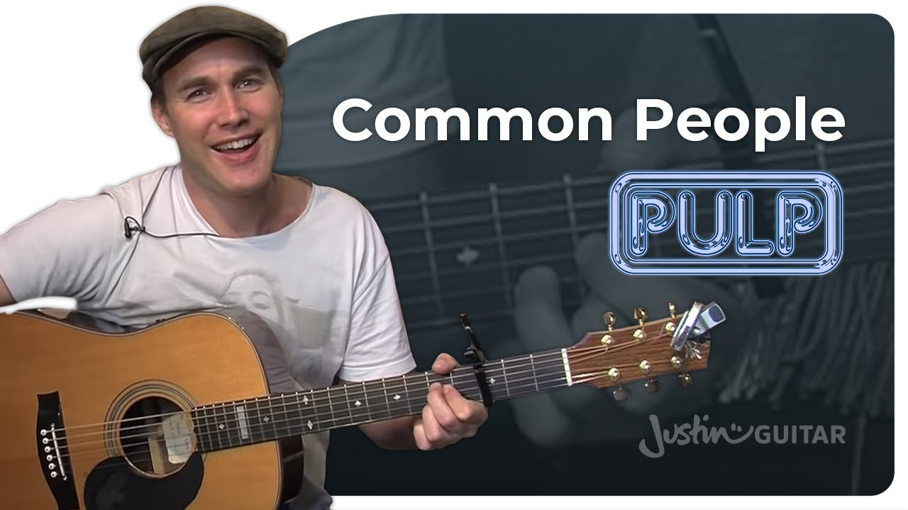 Common People – Pulp (Easy Songs Beginner Guitar Lesson BS-110) How to play