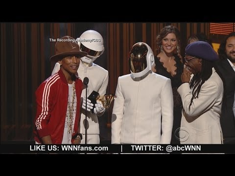grammy awards winners - Daft Punk took home top awards; plus Lorde, Pharrell, Beyonce and Jay Z sang their hit songs. *MORE: http://abcn.ws/1aWwpxZ.