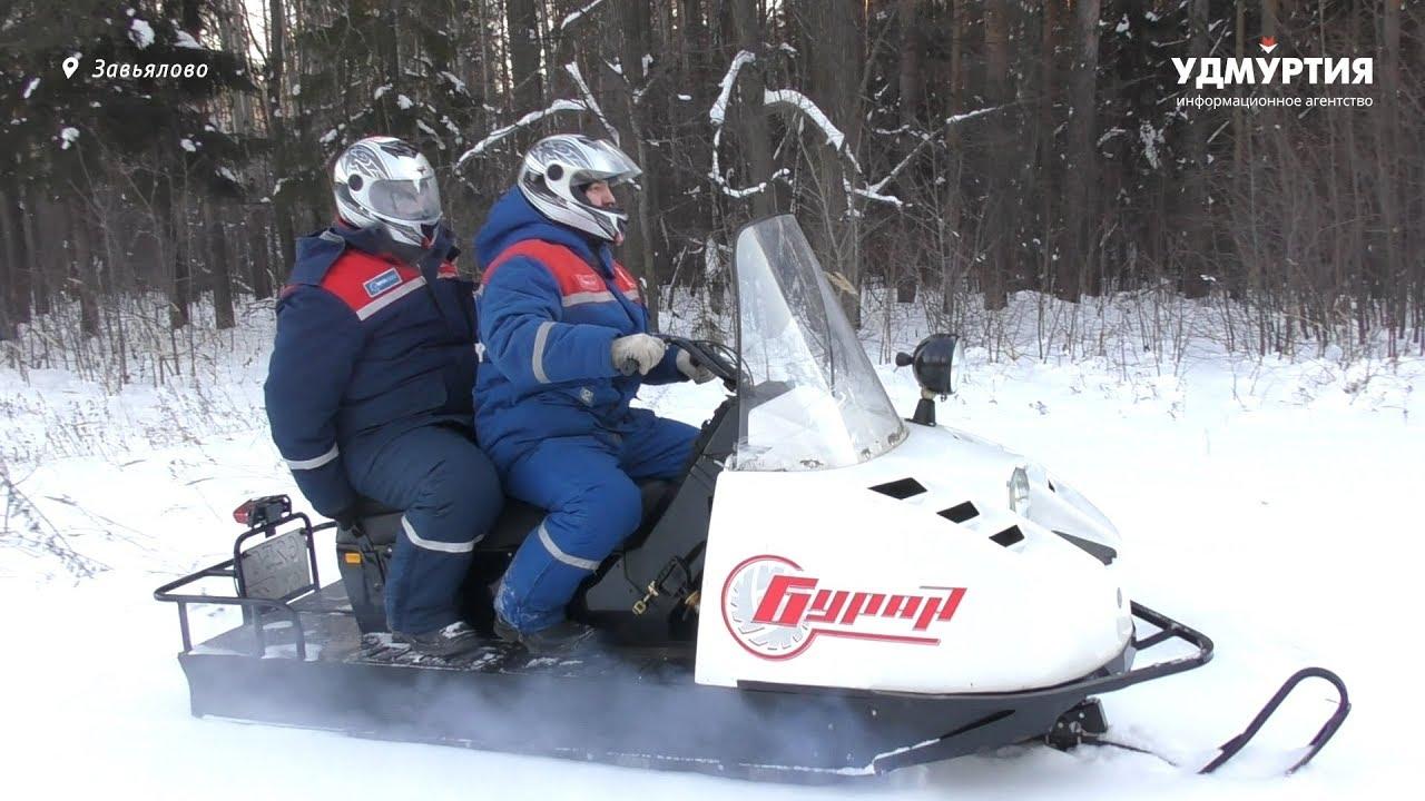 Люди и техника «Удмуртэнерго»: снегоход — помощник электромонтера