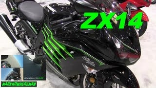2. 2013 Kawasaki NINJA ZX14 Walk Around Video + A NINJA ZX10R Rider on a Race Track