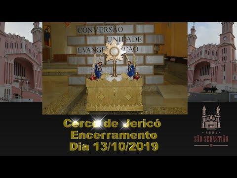 Missa de encerramento do Cerco de Jericó Dia 13-10-2019 Matriz Celebrada pelo Pároco Pe. Hélio Feuser